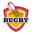 rugby ball flying design vector image