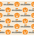 Halloween Seamless Pattern with Pumpkin vector image