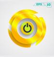 circle gold design vector image