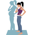 Wanting to get pregnant vector image