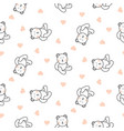 teddy bear plush seamless pattern vector image