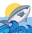 fish animal in the beauty sea design vector image