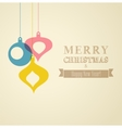Merry Christmas Paper greeting card vector image