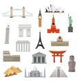 architecture monument or landmark icon vector image
