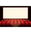 Cinema with white screen vector image vector image