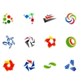 12 colorful symbols set 10 vector image