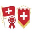 switzerland flags vector image vector image