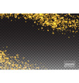 Abstract Sparkling Luminous Golden grainy abstract vector image