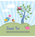 Birds and apple tree vector image