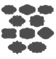 Chalkboard vintage labels and frames vector image