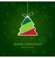 Christmas tree from jigsaw puzzle vector image