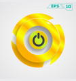 circle gold design vector image