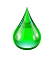 green drop vector image