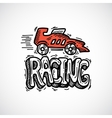 Racing Icon Sketch vector image