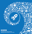 Rocket icon sign Nice set of beautiful icons vector image