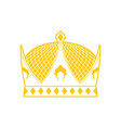 royal crown sign king hat ruler cap vector image