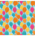 balloons pattern vector image vector image