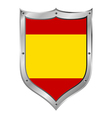 Spain flag button vector image