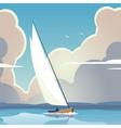 Sailing vector image
