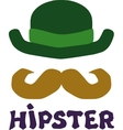 hipster hat vector image vector image