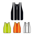 Safety Vest Icon vector image