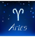 01 Aries horoscope sign vector image