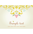 Floral hand drawn card vector image