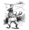 a dog wearing boxing gloves and pants vintage vector image