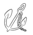anchor cartoon - line drawn vector image