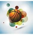 Basketball Advertising poster vector image