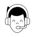 call center man avatar vector image