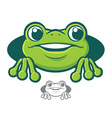 Frog Character Icon vector image