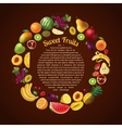 Fruits Round Composition vector image