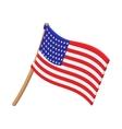 USA flag cartoon icon vector image