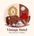 vintage hotel composition vector image