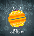 Vintage style Christmas greeting card vector image