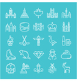 Ottawa Line Icons 6 2 vector image