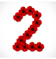 poppies number two vector image vector image