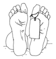 dead man vector image vector image