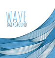 background with hand drawn waves vector image vector image