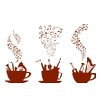Musical cups of coffee vector image vector image