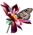 butterfly on a flower vector image vector image