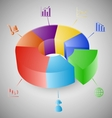 3D pie chart graph infographic vector image vector image