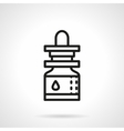 Essential oil black line icon vector image