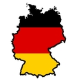 Map in colors of Germany vector image vector image