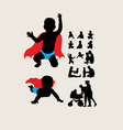 Baby is Hero Silhouettes vector image