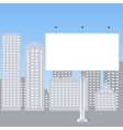Abstract billboard on city background vector image