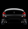 black customized super car vector image
