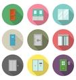 Door flat icons vector image
