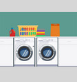 laundry room interior background vector image
